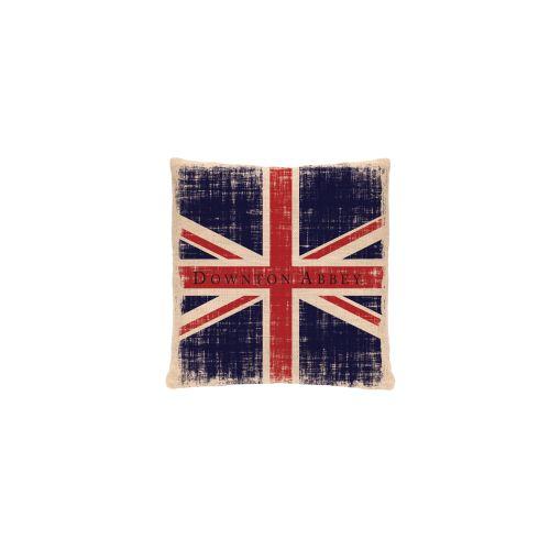 Downton Union Jack Pillow, Natural