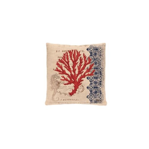 Coral Coast Seahorse Pillow, Natural