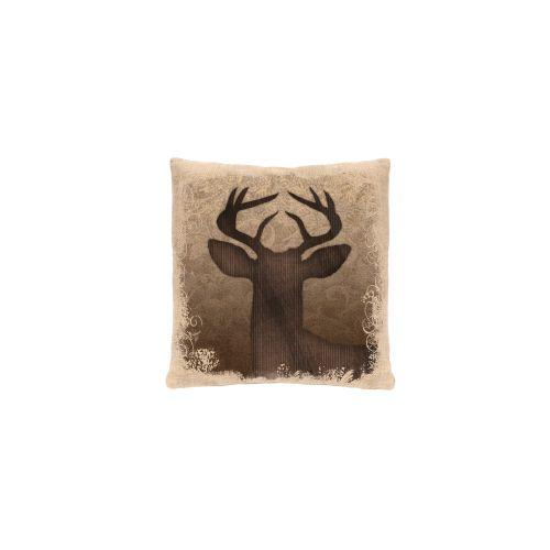 Alpine Woods Deer Pillow, Natural