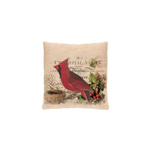 Winter Garden Cardinal Pillow