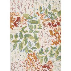 Floral & Leaves Pattern Polypropylene Colours Area Rug