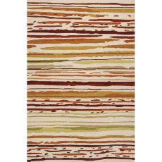 Abstract Pattern Polypropylene Colours Area Rug