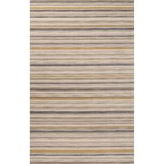Contemporary Stripes Pattern Gray/Neutral Wool Area Rug (8X10)