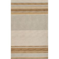 Contemporary Stripes Pattern Yellow/Gray Wool Area Rug (8X10)