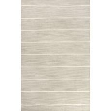 Flatweave Stripes Pattern Gray/Ivory Wool Area Rug (9X12)