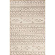 Flatweave Tribal Pattern Ivory/Neutral Wool Area Rug (9X12)