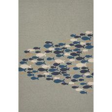 Abstract Pattern Polypropylene Coastal Lagoon Area Rug
