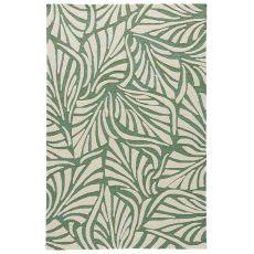 Coastal Novelty Pattern Green/White Polypropylene Area Rug ( 7.6X9.6)