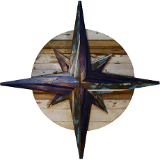 Compass Rose Wooden Plaque