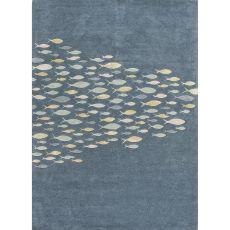 Animal Pattern Wool And Viscose Coastal Resort Area Rug