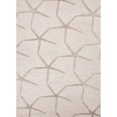 Contemporary Tribal Pattern Ivory/Taupe Wool And Art Silk Area Rug (8X11)