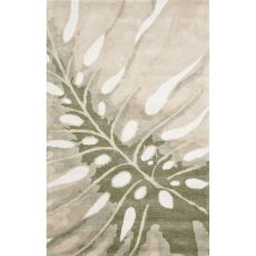 Contemporary Coastal Pattern Ivory/Gray Wool Area Rug (8x11)