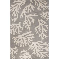 Contemporary Coastal Pattern Gray/Ivory Polyester Area Rug (9x12)