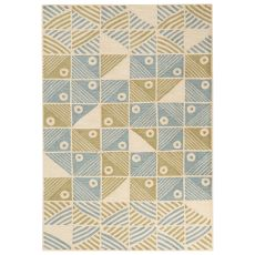 Contemporary Coastal Pattern Blue/Green Polyester Area Rug (7.6X9.6)