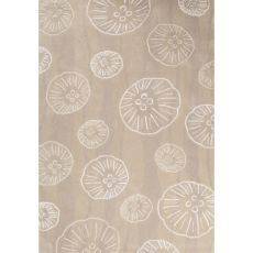 Contemporary Coastal Pattern Beige/Ivory Polyester Area Rug (7.6x9.6)
