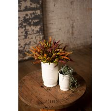 White Ceramic Vases, Set of 2