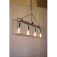 Four Bulb Wire Mesh Horizontal Pendant Light