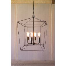 Square Iron Bar Pendant Light