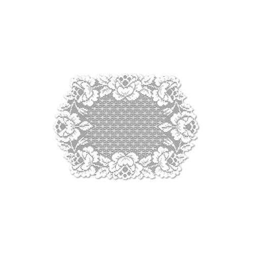 Cottage Rose 14X20 Placemat, White