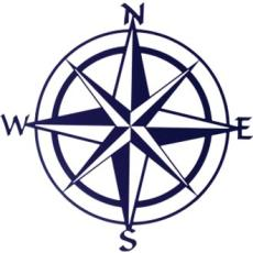 Compass Rose Metal Wall Art