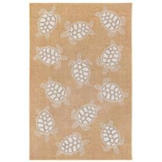 "Liora Manne Carmel Seaturtles Indoor/Outdoor Rug Sand 4'10""X7'6"""