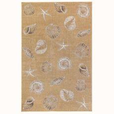 "Liora Manne Carmel Shells Indoor/Outdoor Rug Sand 4'10""X7'6"""