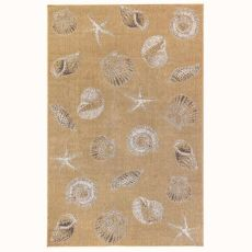 "Liora Manne Carmel Shells Indoor/Outdoor Rug Sand 6'6""X9'4"""