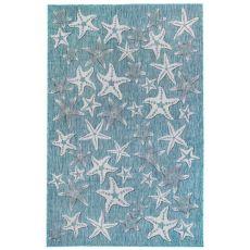 "Liora Manne Carmel Starfish Indoor/Outdoor Rug Aqua 39""X59"""