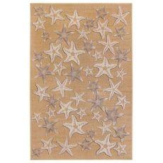 """Liora Manne Carmel Starfish Indoor/Outdoor Rug Sand 4'10""""X7'6"""""""