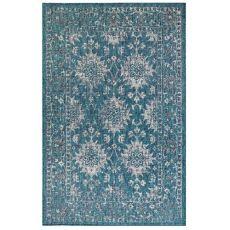 """Liora Manne Carmel Vintage Floral Indoor/Outdoor Rug Teal 6'6""""X9'4"""""""
