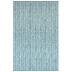 """Liora Manne Carmel Texture Stripe Indoor/Outdoor Rug Aqua 7'10""""X9'10"""""""