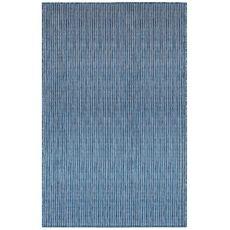 """Liora Manne Carmel Texture Stripe Indoor/Outdoor Rug Navy 4'10""""X7'6"""""""