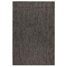 """Liora Manne Carmel Texture Stripe Indoor/Outdoor Rug Black 6'6""""X9'4"""""""