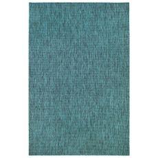"Liora Manne Carmel Texture Stripe Indoor/Outdoor Rug Teal 4'10""X7'6"""