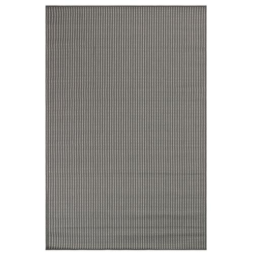 """Liora Manne Carmel Texture Stripe Indoor/Outdoor Rug Grey 7'10"""" SQ"""