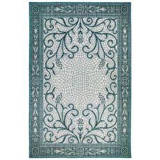 "Liora Manne Carmel Mosaic Indoor/Outdoor Rug Teal 39""X59"""
