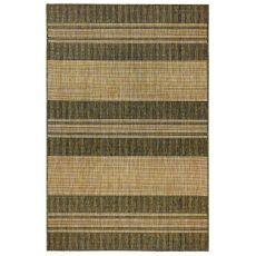 """Liora Manne Carmel Stripe Indoor/Outdoor Rug Green 7'10"""" Sq"""