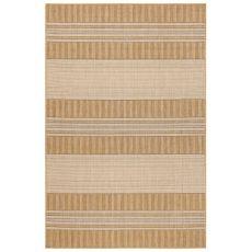 """Liora Manne Carmel Stripe Indoor/Outdoor Rug Sand 7'10"""" Sq"""