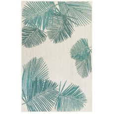 "Liora Manne Carmel Palm Indoor/Outdoor Rug Aqua 23""X7'6"""