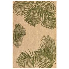 "Liora Manne Carmel Palm Indoor/Outdoor Rug Green 7'10"" Sq"