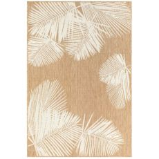 "Liora Manne Carmel Palm Indoor/Outdoor Rug Sand 7'10"" Sq"