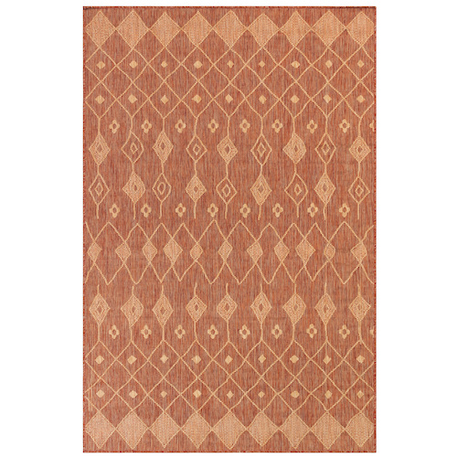 "Liora Manne Carmel Marrakech Indoor/Outdoor Rug Red 7'10"" SQ"