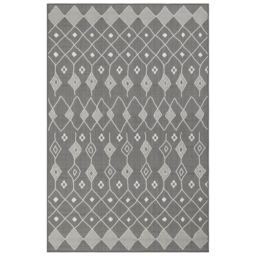"Liora Manne Carmel Marrakech Indoor/Outdoor Rug Grey 6'6""X9'4"""