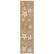 """Liora Manne Carmel Starfish Indoor/Outdoor Rug Sand 23""""X7'6"""""""