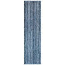 """Liora Manne Carmel Texture Stripe Indoor/Outdoor Rug Navy 23""""X7'6"""""""