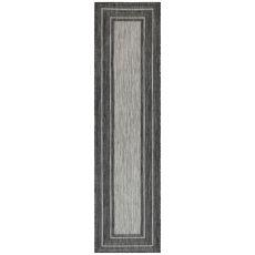 "Liora Manne Carmel Multi Border Indoor/Outdoor Rug Black 23""X7'6"""