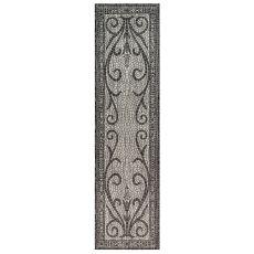"""Liora Manne Carmel Mosaic Indoor/Outdoor Rug Black 23""""X7'6"""""""