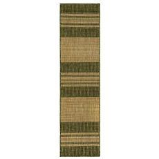 """Liora Manne Carmel Stripe Indoor/Outdoor Rug Green 23""""X7'6"""""""