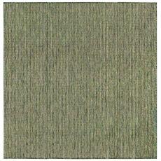 """Liora Manne Carmel Texture Stripe Indoor/Outdoor Rug Green 7'10"""" Sq"""