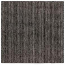 """Liora Manne Carmel Texture Stripe Indoor/Outdoor Rug Black 7'10"""" Sq"""